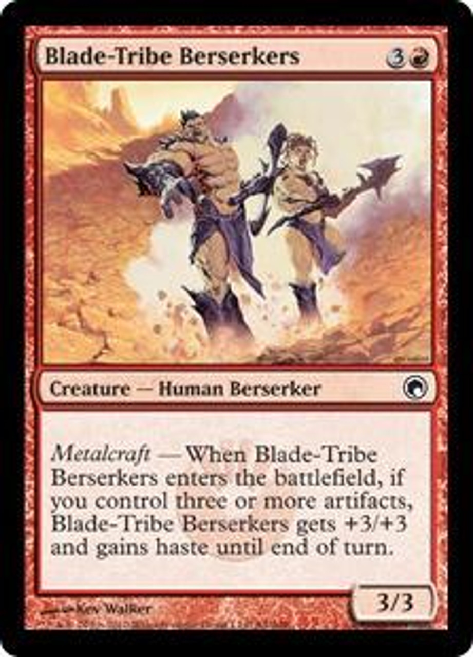 MtG Scars of Mirrodin Common Blade-Tribe Berserkers #84