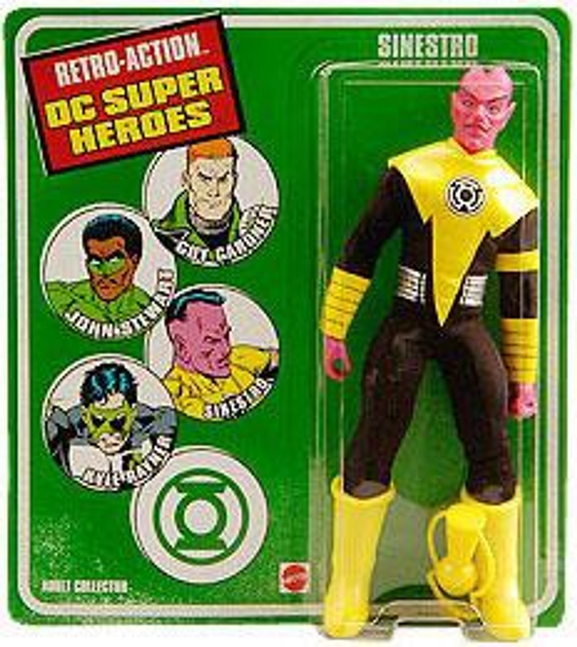 DC Green Lantern World's Greatest Super Heroes Retro Series Sinestro Exclusive Retro Action Figure