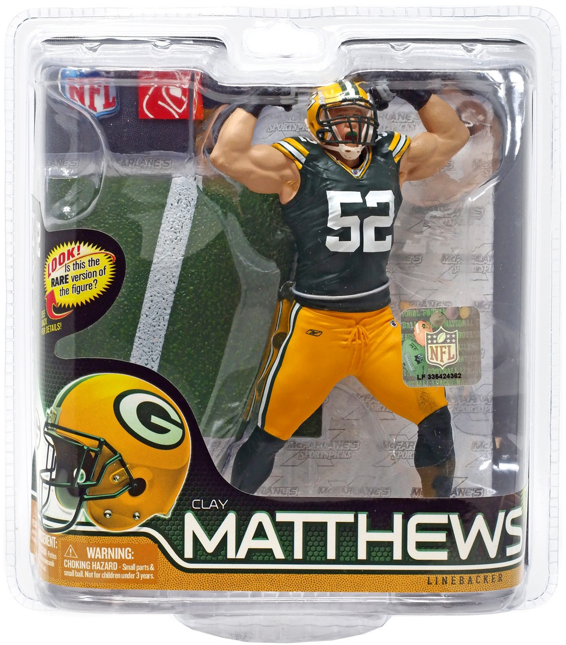 McFarlane Toys NFL Green Bay Packers Sports Picks Series 28 Clay Matthews Action Figure [Green Jersey]