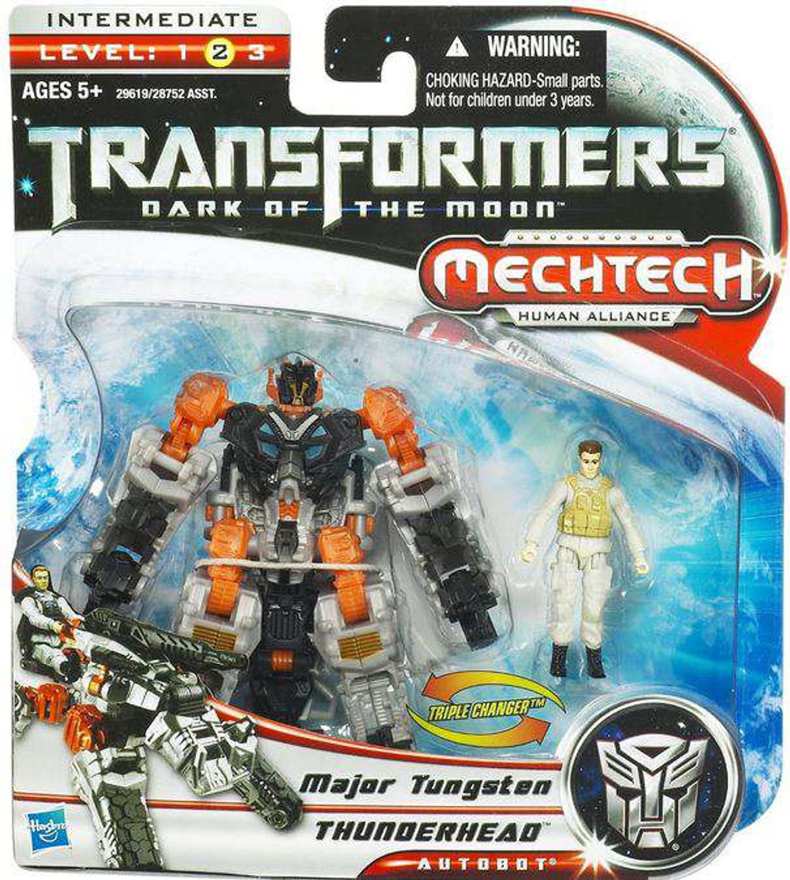 Transformers Dark of the Moon Mechtech Thunderhead with Major Tungsten Action Figure Set
