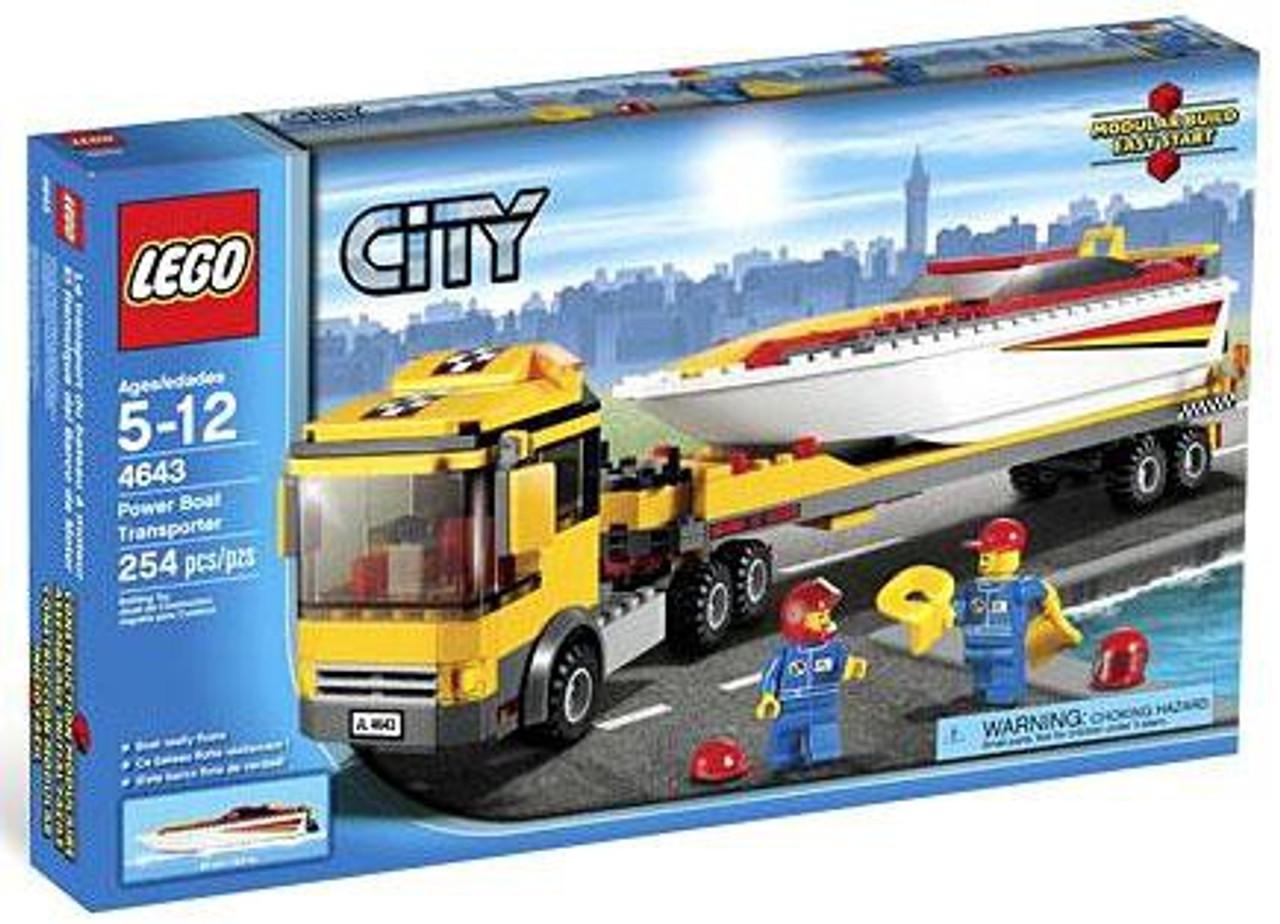 LEGO City Power Boat Transporter Set #4643
