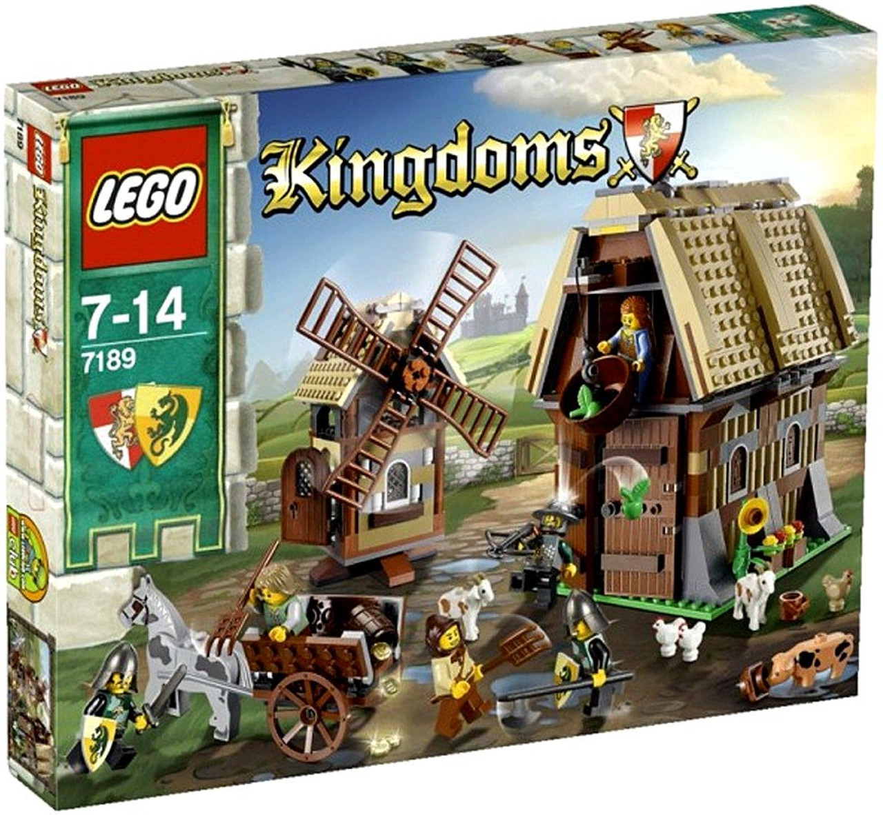 LEGO Kingdoms Mill Village Raid Set #7189