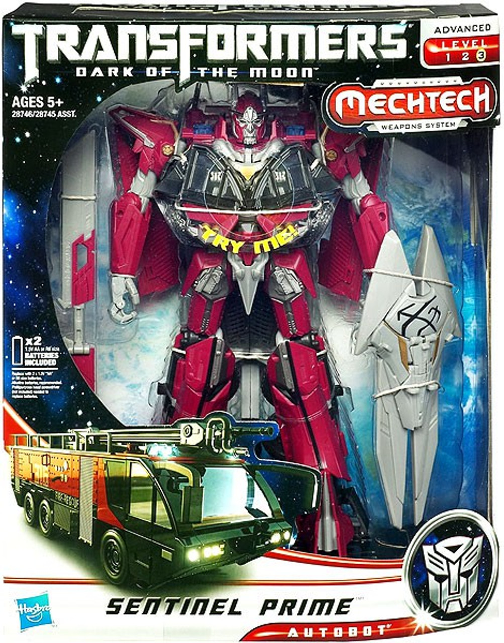 Transformers Dark of the Moon Mechtech Leader Sentinel Prime Leader Action Figure