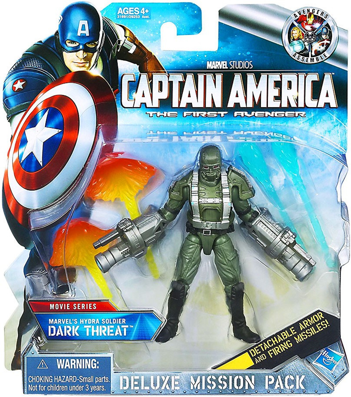 Captain America The First Avenger Deluxe Mission Pack Movie Series Hydra Soldier Dark Threat Action Figure