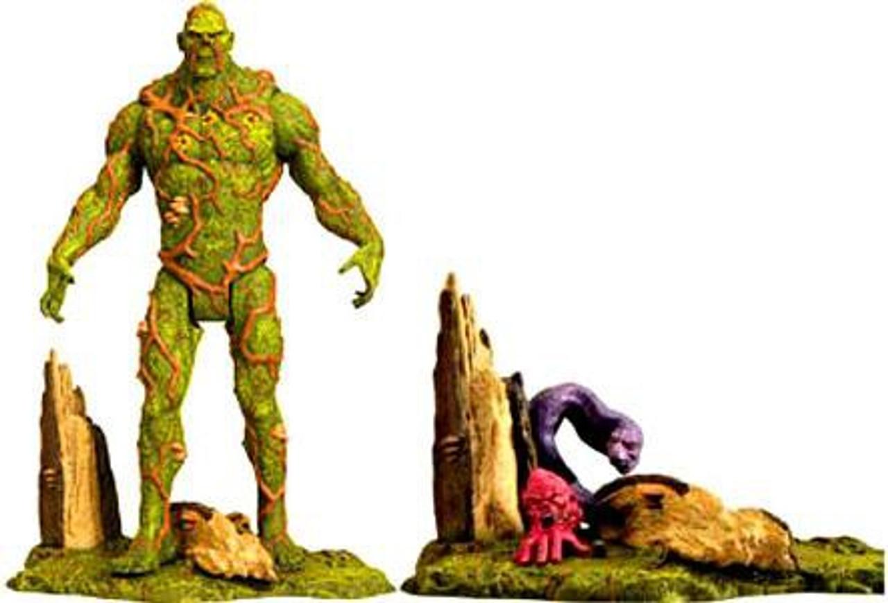 DC Swamp Thing Exclusive Action Figure [Includes Un-Men Ophidian & Cranius]