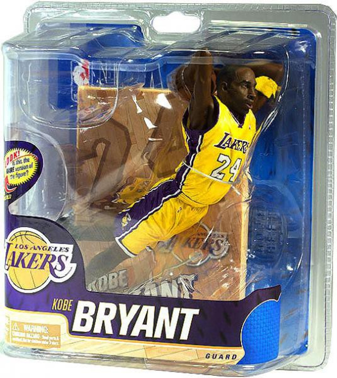 McFarlane Toys NBA Los Angeles Lakers Sports Picks Series 20 Kobe Bryant Action Figure [Yellow Jersey]