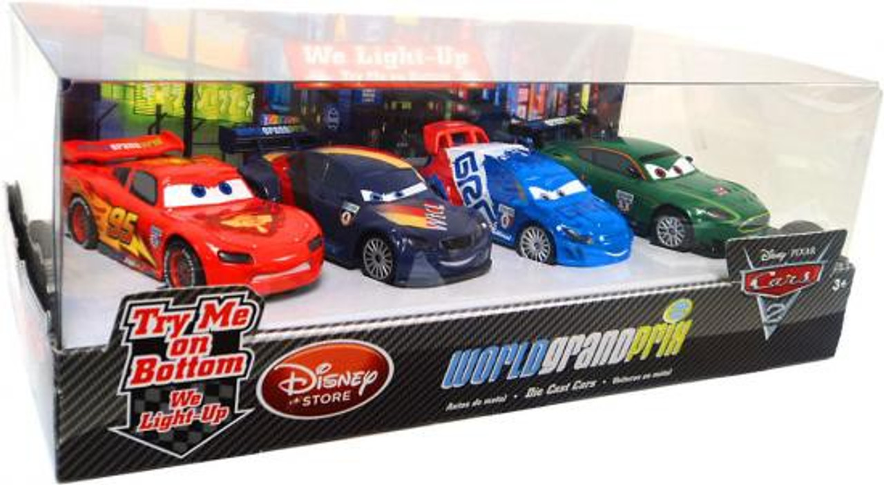 Disney Cars Cars 2 Light Up World Grand Prix Exclusive Diecast Car Set [Set #2]