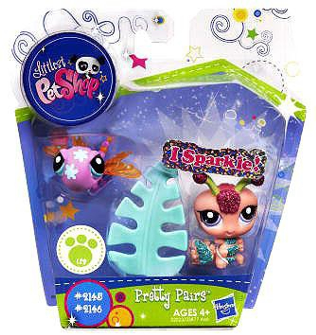 Littlest Pet Shop Pretty Pairs Dragonfly & Centipede Figure 2-Pack #2145, 2146