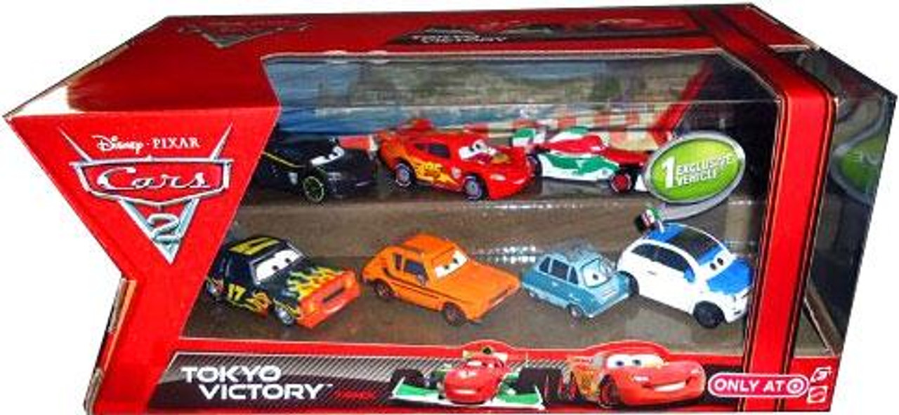 Disney Cars Cars 2 Tokyo Victory Exclusive Diecast Car 7-Pack