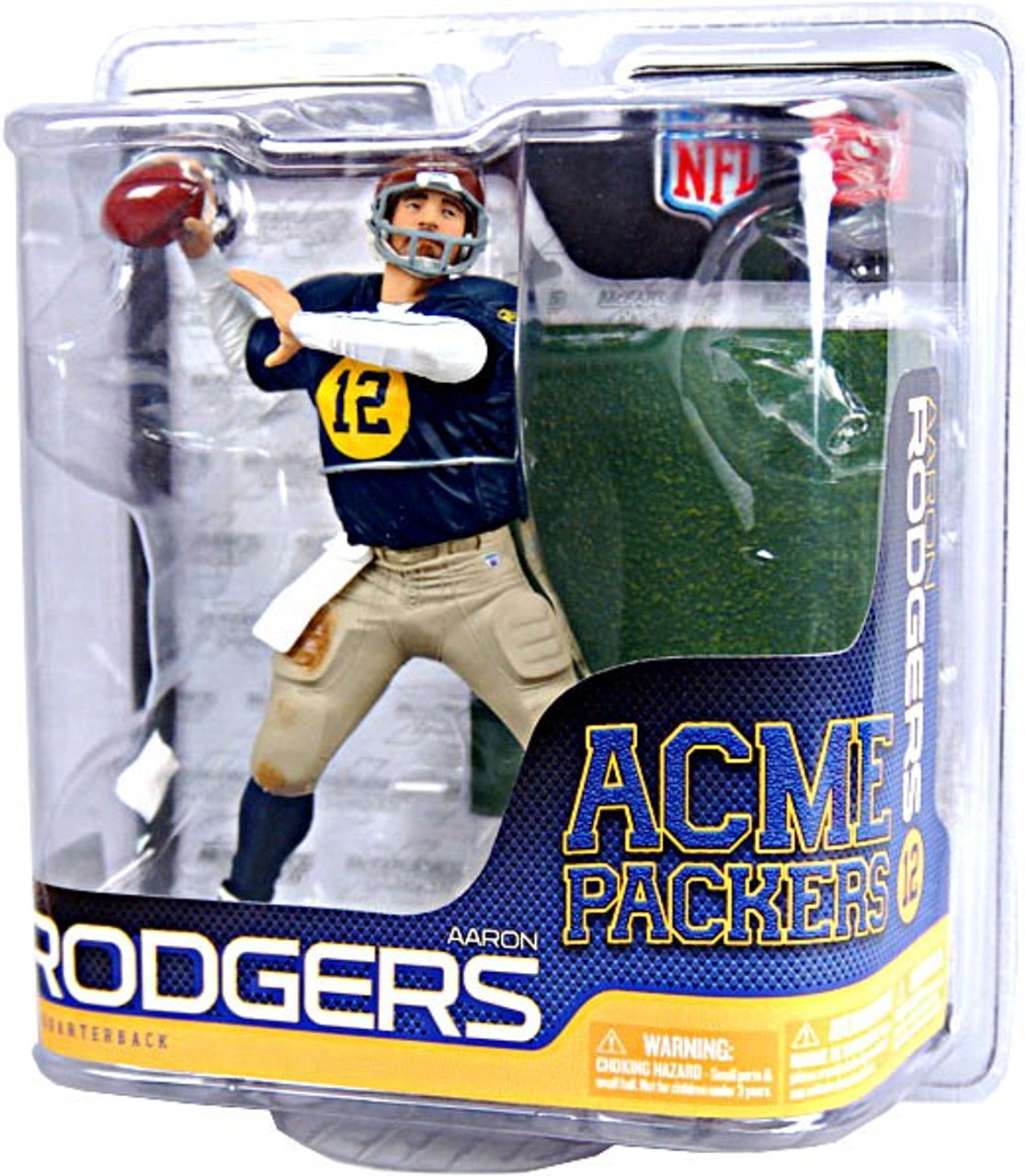 McFarlane Toys NFL Acme Packers Sports Picks Exclusive Aaron Rodgers Exclusive Action Figure [Retro Old Scool Uniform]