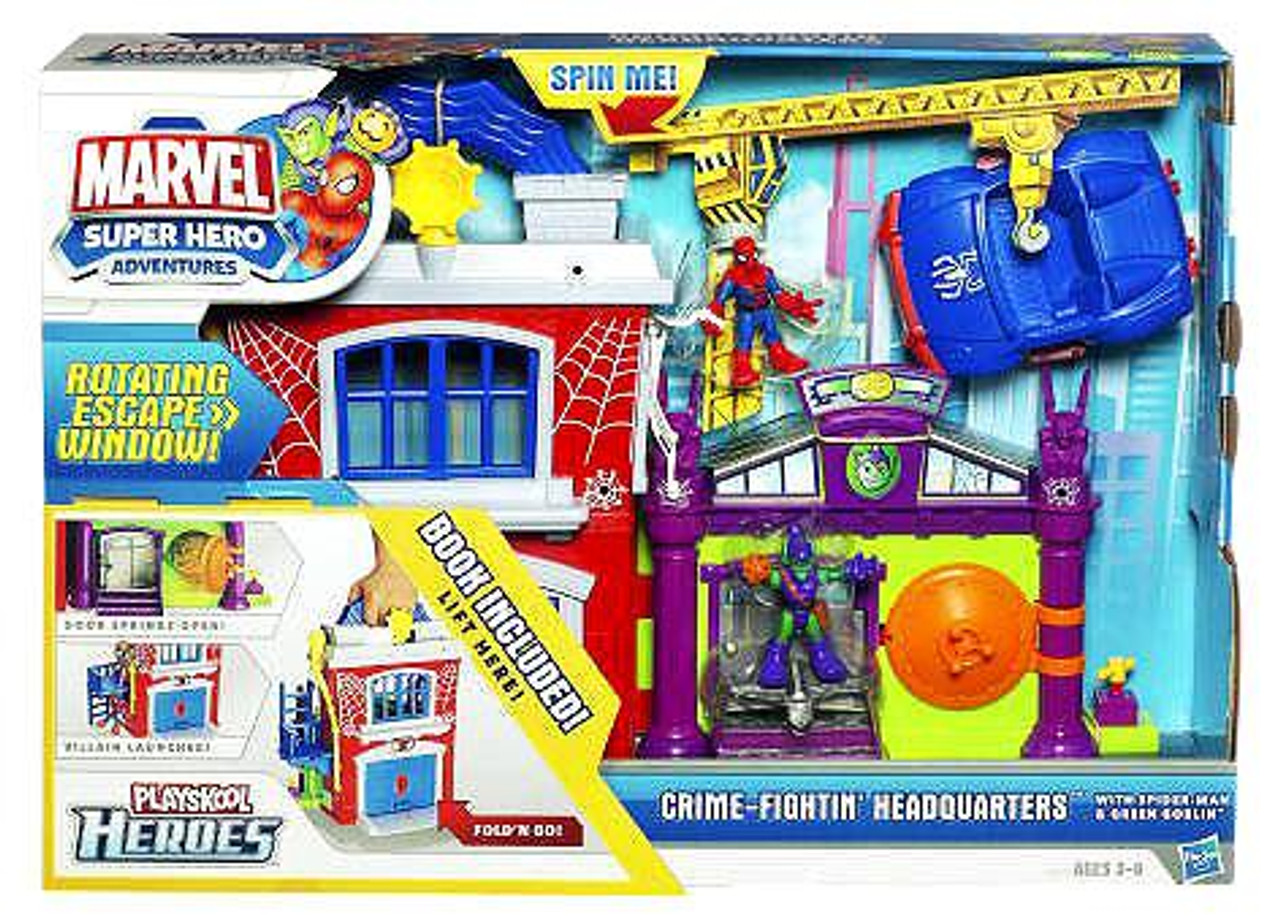 Marvel Playskool Heroes Super Hero Adventures Crime Fightin' Headquarters Action Figure Playset
