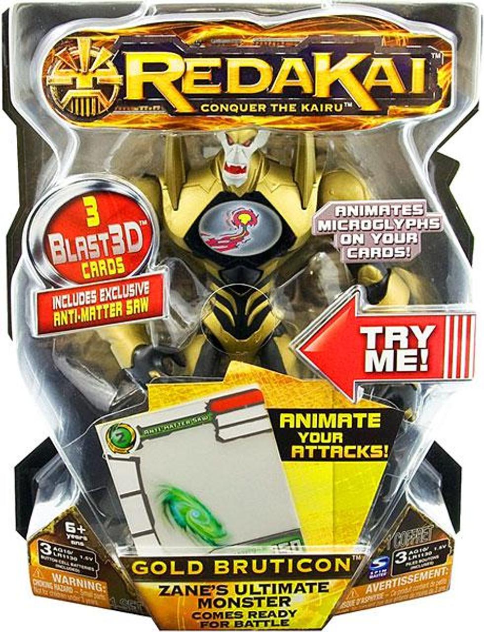 Redakai Deluxe Gold Bruticon Action Figure