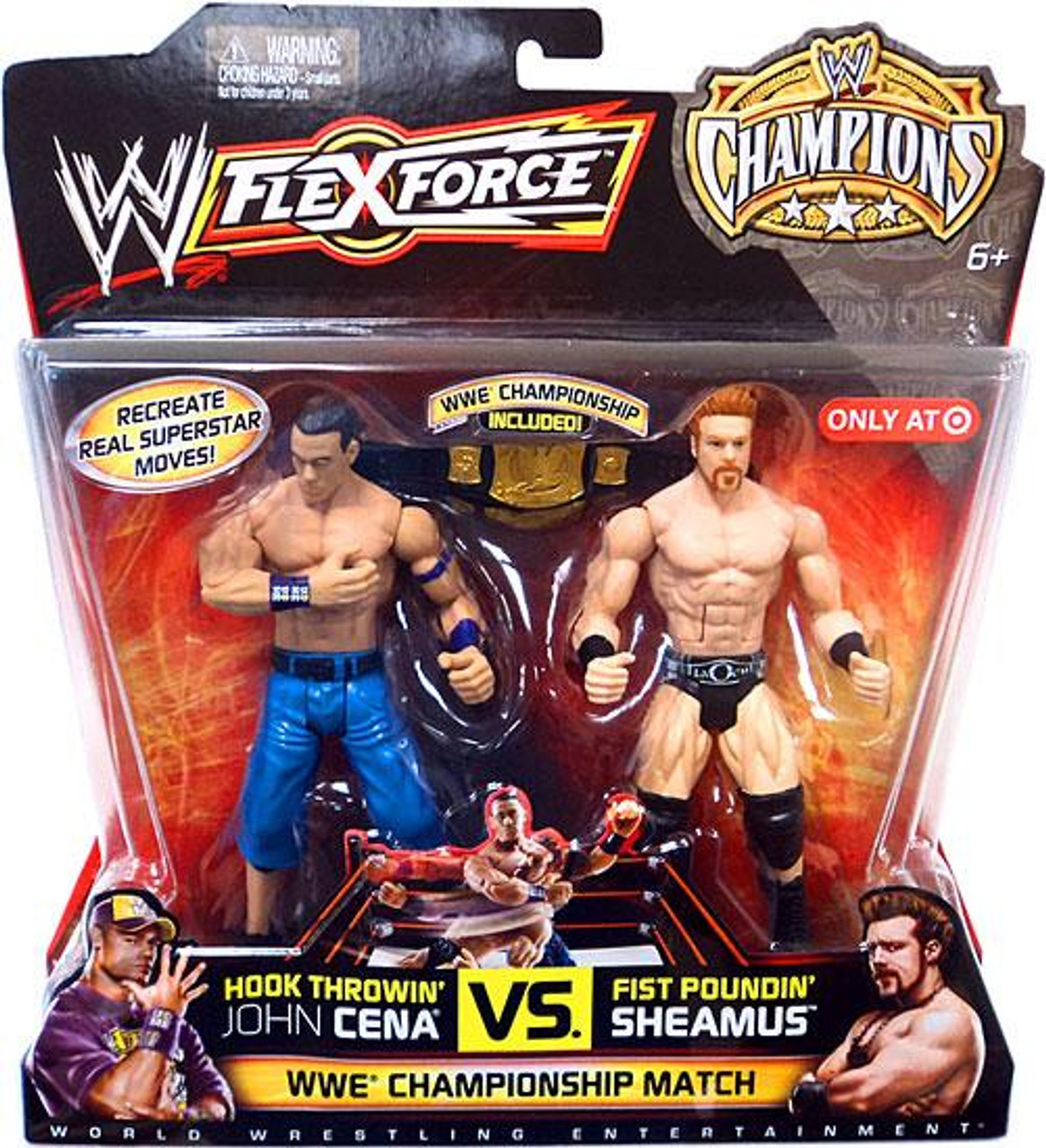 WWE Wrestling FlexForce Champions Hook Throwin' John Cena Vs. Fist Poundin' Sheamus Exclusive Action Figure 2-Pack