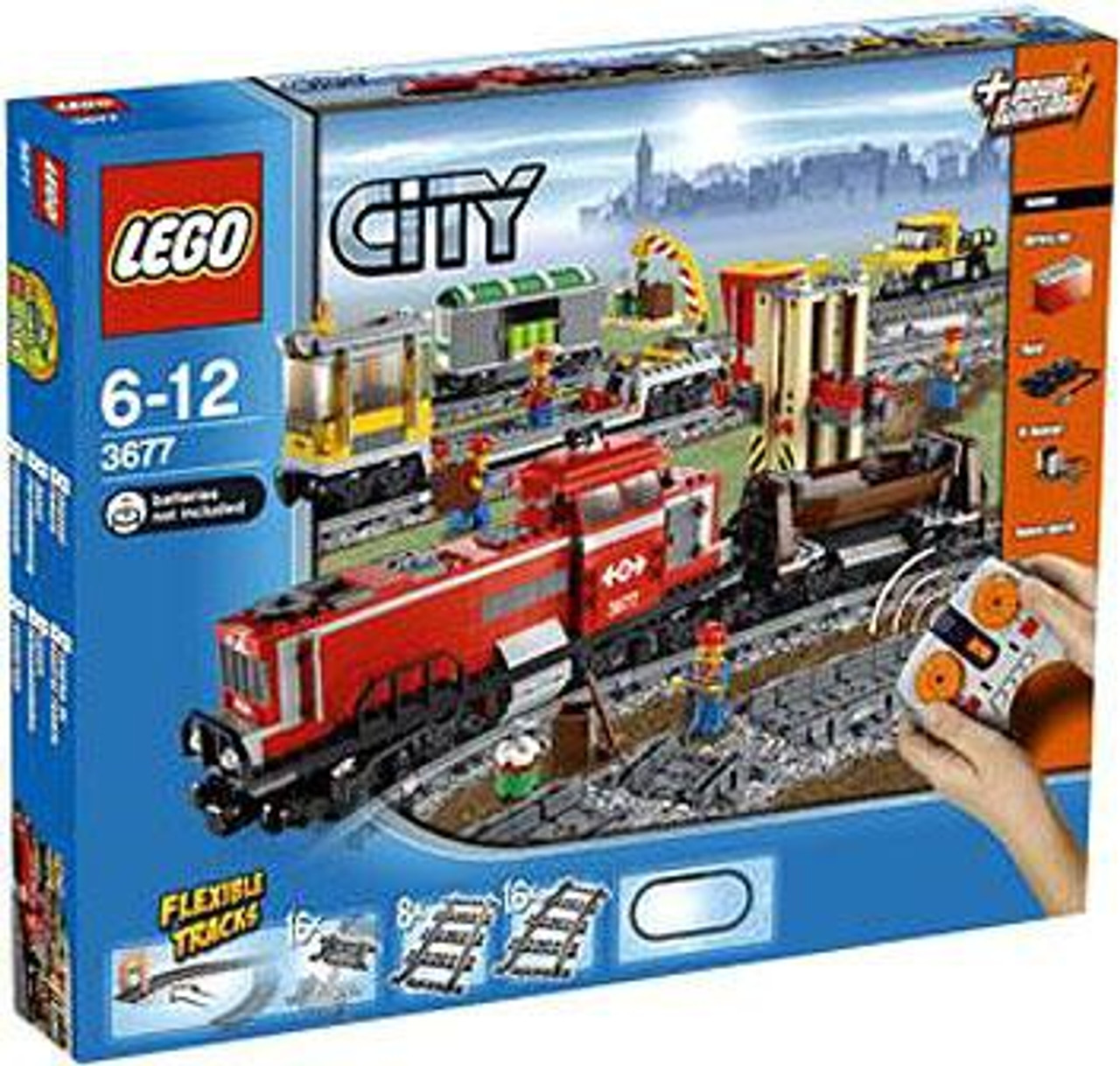 LEGO City Red Cargo Train Set #3677