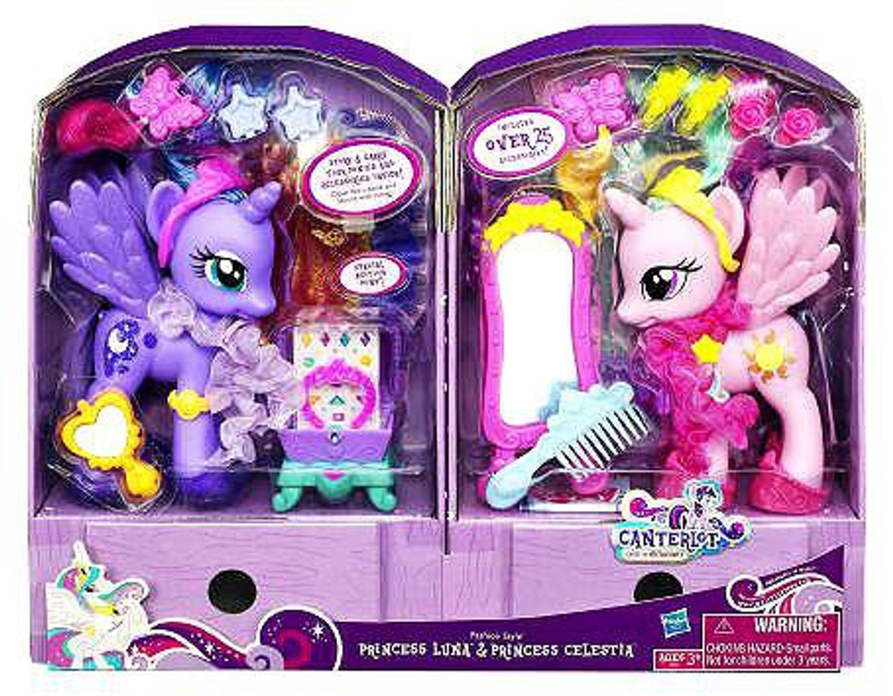 My Little Pony Canterlot Fashion Style Princess Luna & Princess Celestia Exclusive 6-Inch Figure 2-Pack