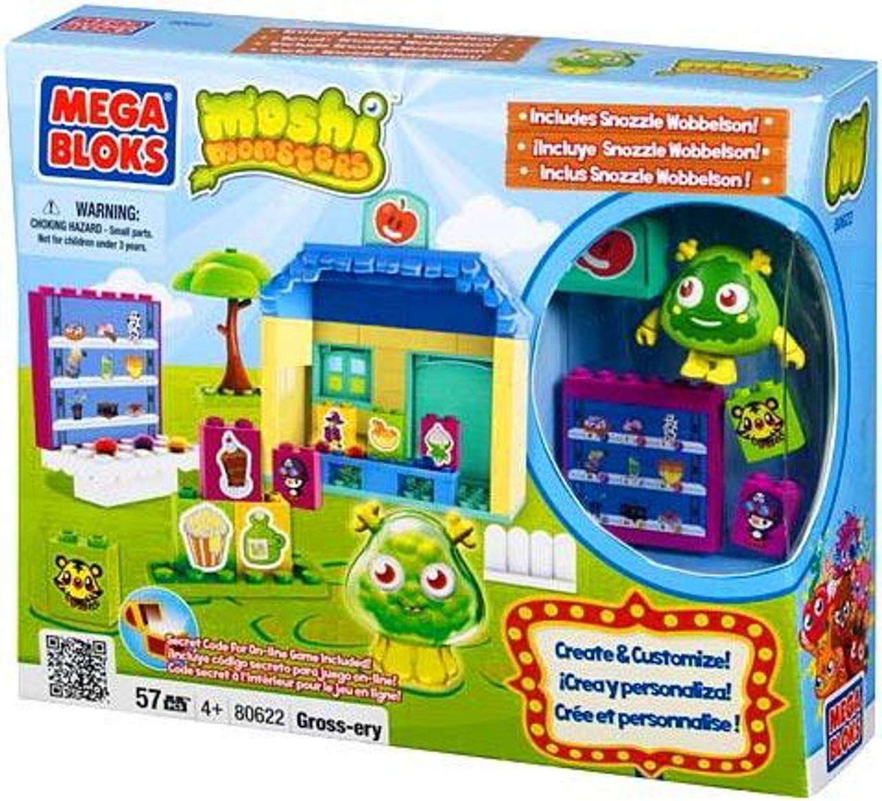 Mega Bloks Moshi Monsters Gross-ery Store Set #80622