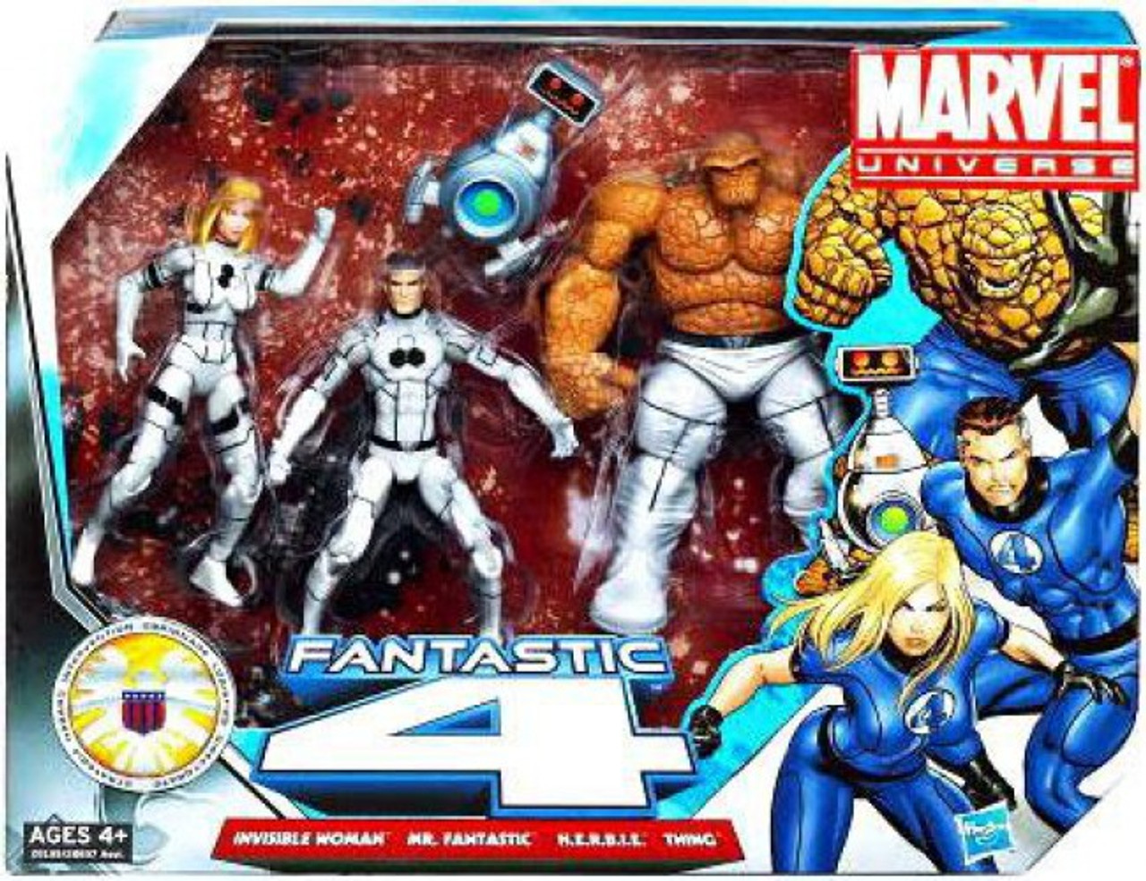 Marvel Universe Super Hero Team Packs Fantastic Four Action Figure Set [Future Foundation White Uniforms]