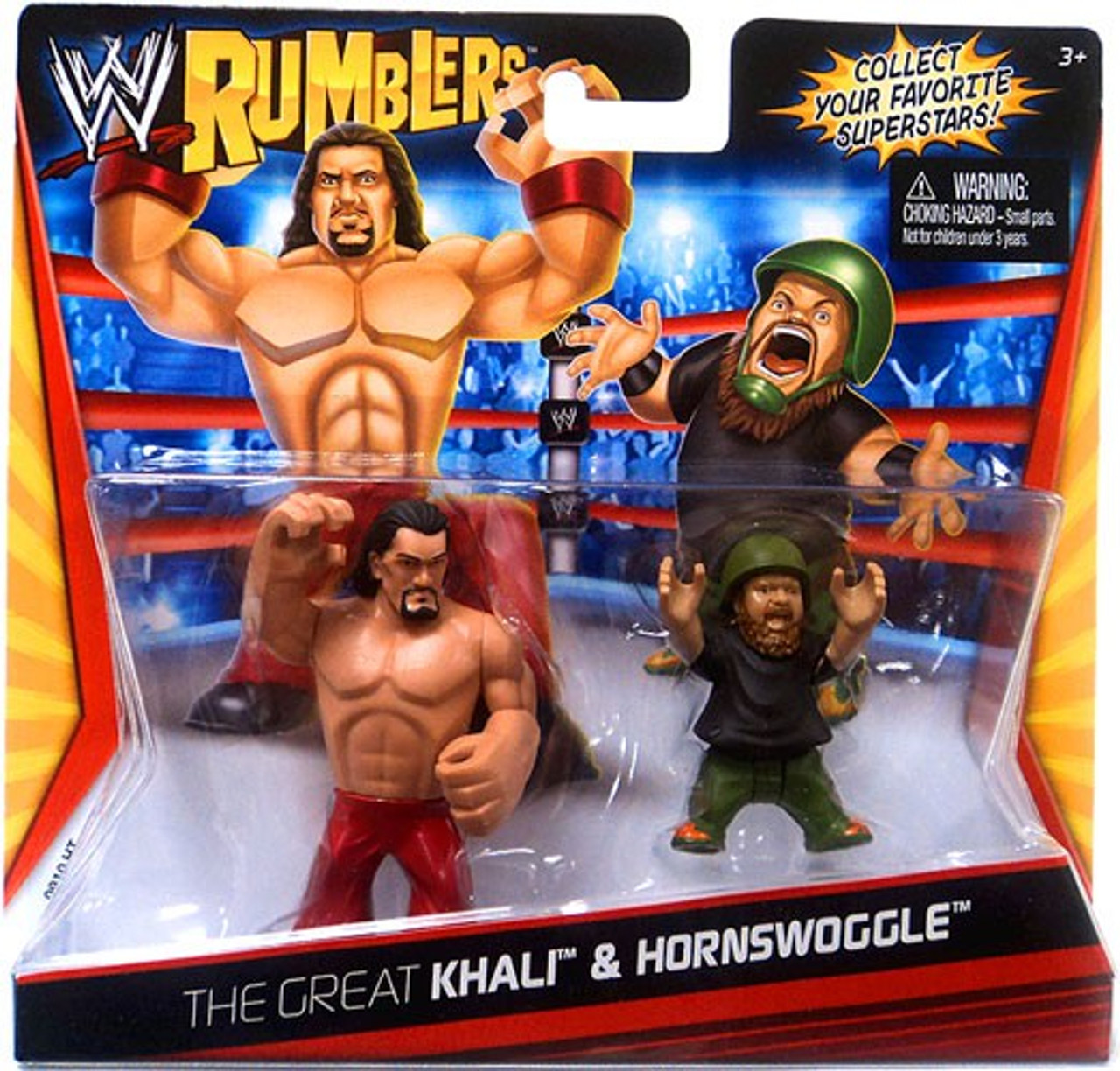 WWE Wrestling Rumblers Series 1 Great Khali & Hornswoggle Mini Figure 2-Pack