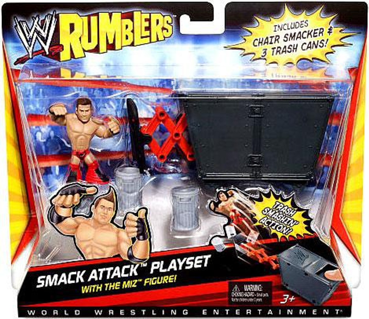 WWE Wrestling Rumblers Series 1 Smack Attack Mini Figure Playset [With The Miz]