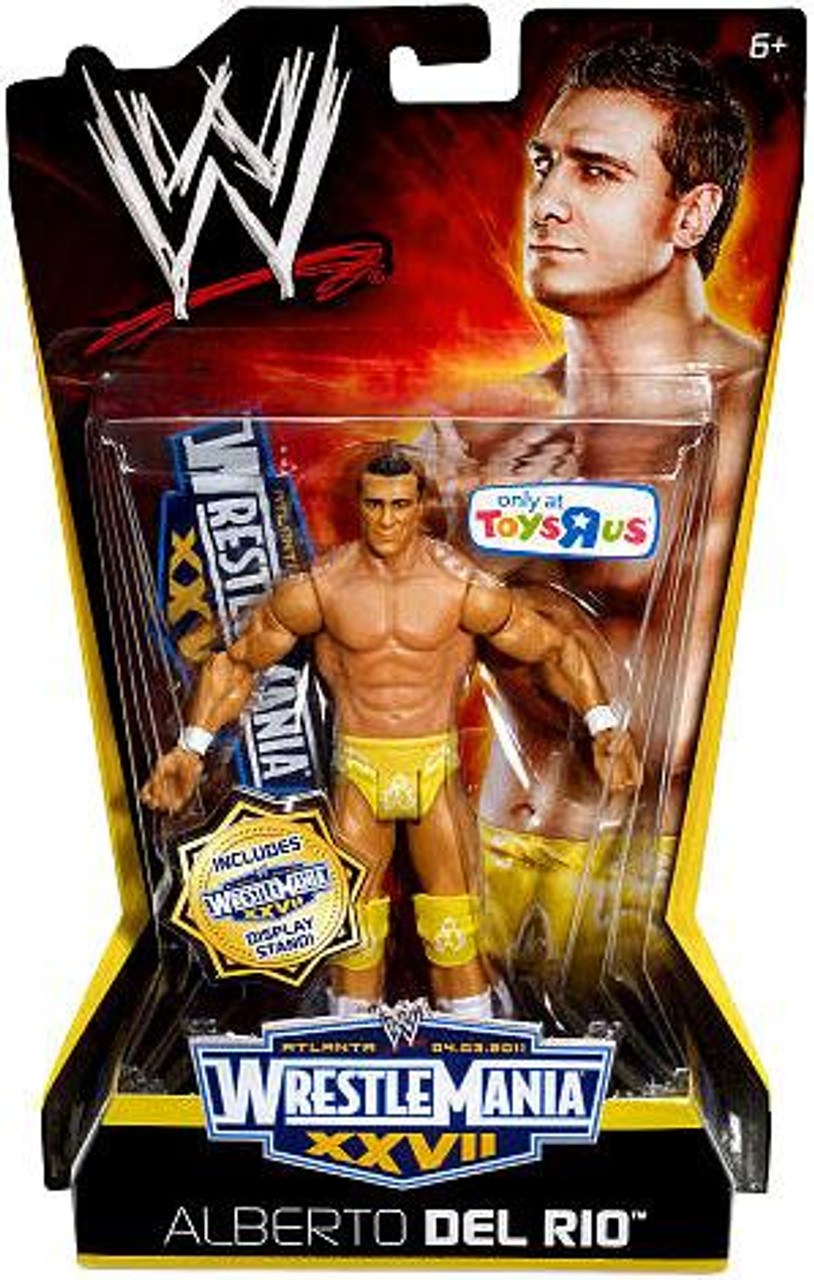 WWE Wrestling WrestleMania 27 Alberto Del Rio Exclusive Action Figure