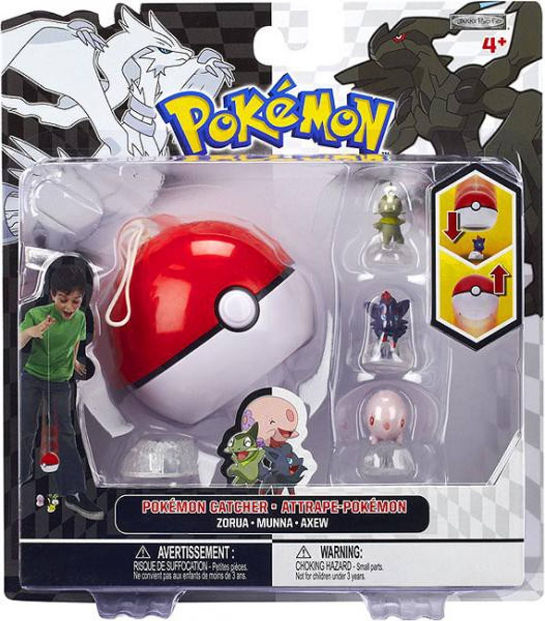 Pokemon Black & White Series 3 Catcher Zorua, Munna & Axew Figure 3-Pack