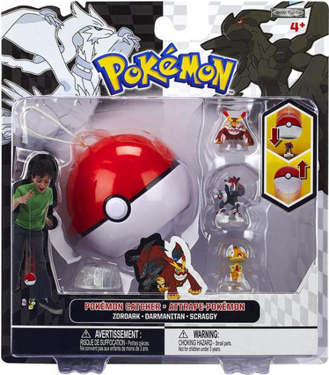 Pokemon Black & White Series 3 Catcher Zoroark, Darmanitan & Scraggy Figure 3-Pack