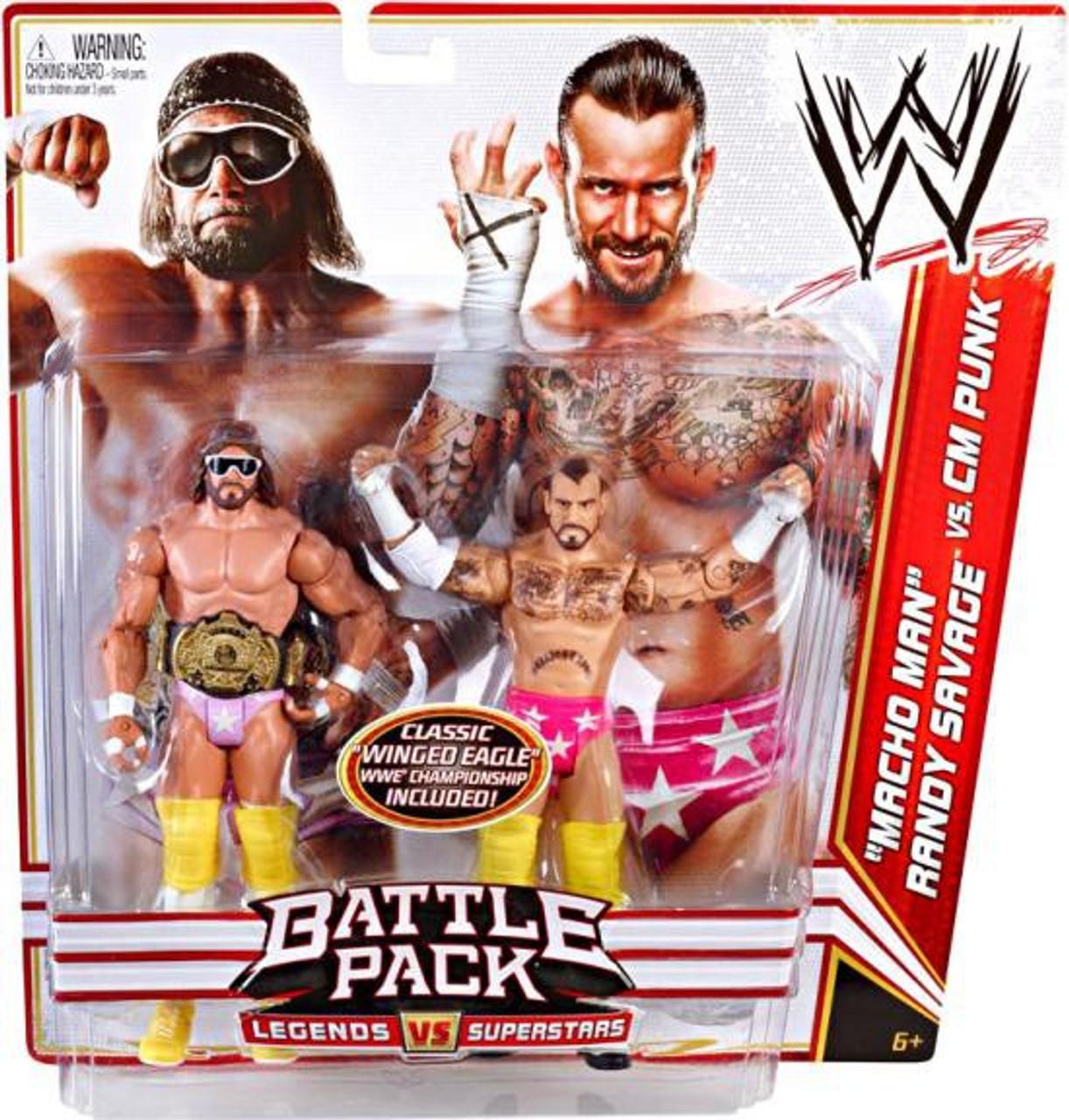 WWE Wrestling Series 14 Macho Man Randy Savage vs. CM Punk Action Figure 2-Pack