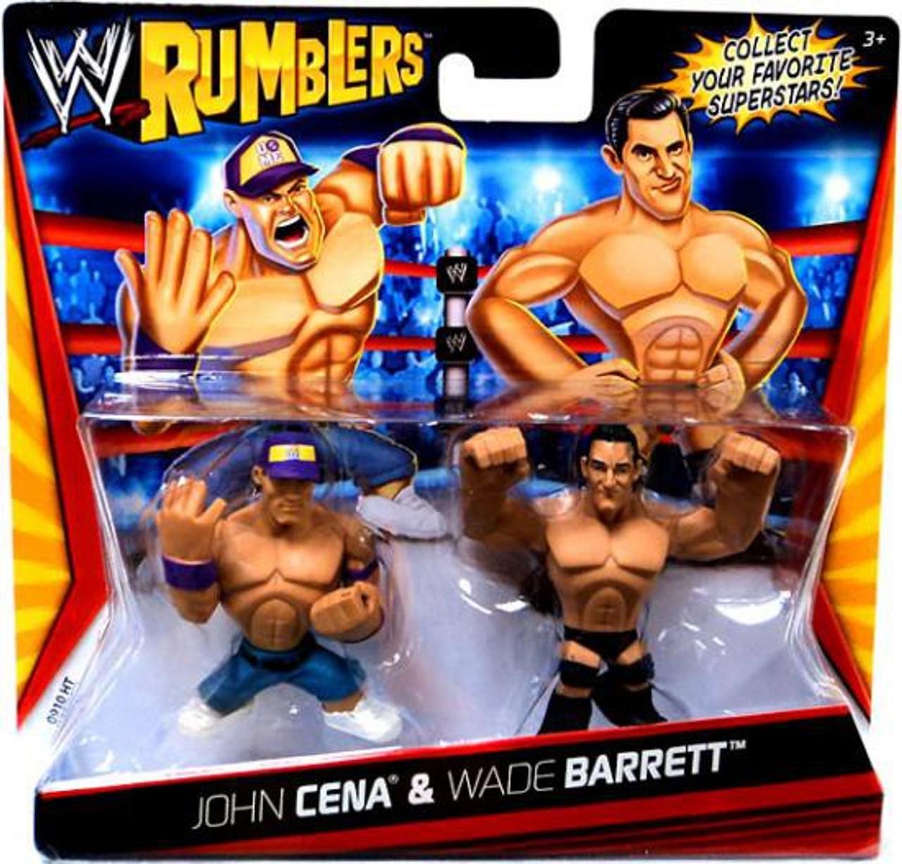 WWE Wrestling Rumblers Series 1 John Cena & Wade Barrett Mini Figure 2-Pack