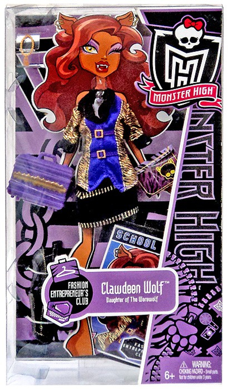 Monster High Fashion Entrepreneur's Club Clawdeen Wolf Fashion Pack