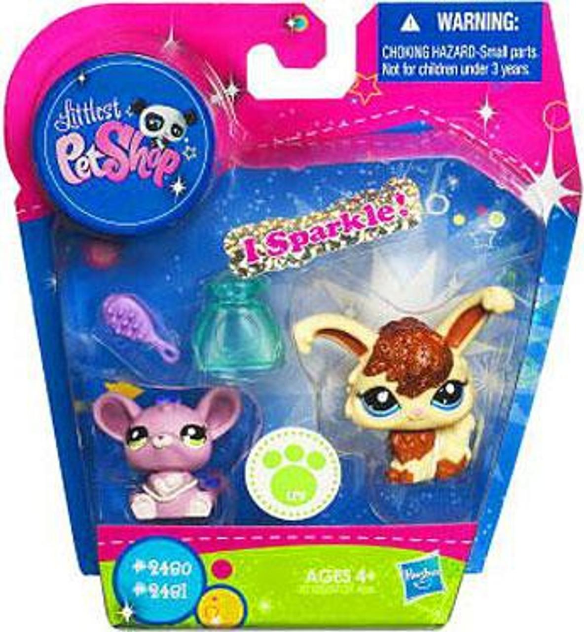 Littlest Pet Shop Angora Bunny & Mouse Exclusive Figure 2-Pack #2480, 2481