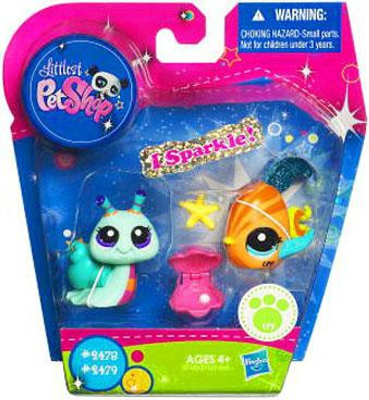Littlest Pet Shop Fish & Snail Exclusive Figure 2-Pack