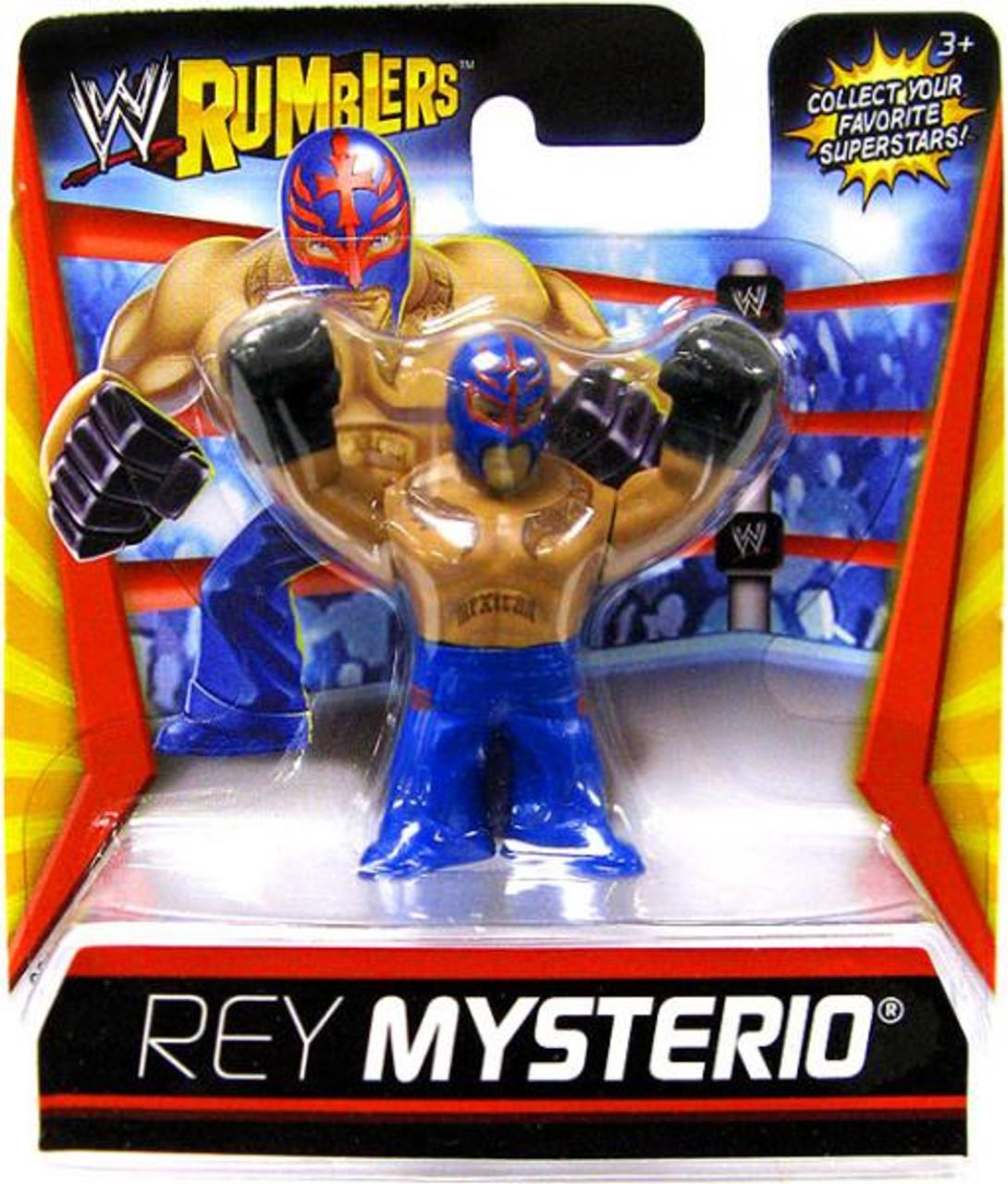 WWE Wrestling Rumblers Series 1 Rey Mysterio Mini Figure [Blue Outfit]
