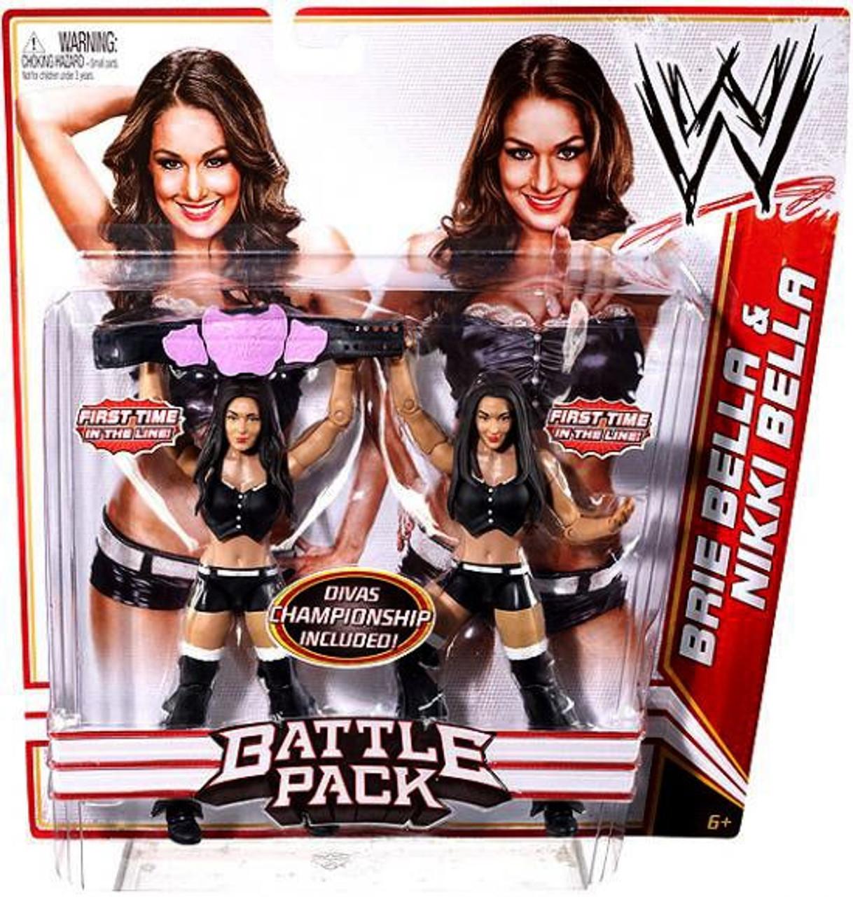 WWE Wrestling Series 15 Brie Bella & Nikki Bella Action Figure 2-Pack [Black Outfits]