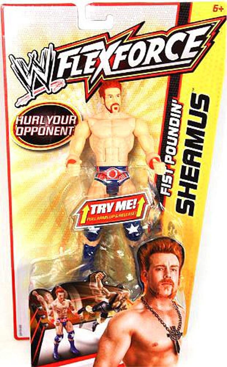 WWE Wrestling FlexForce Fist Poundin' Sheamus Action Figure