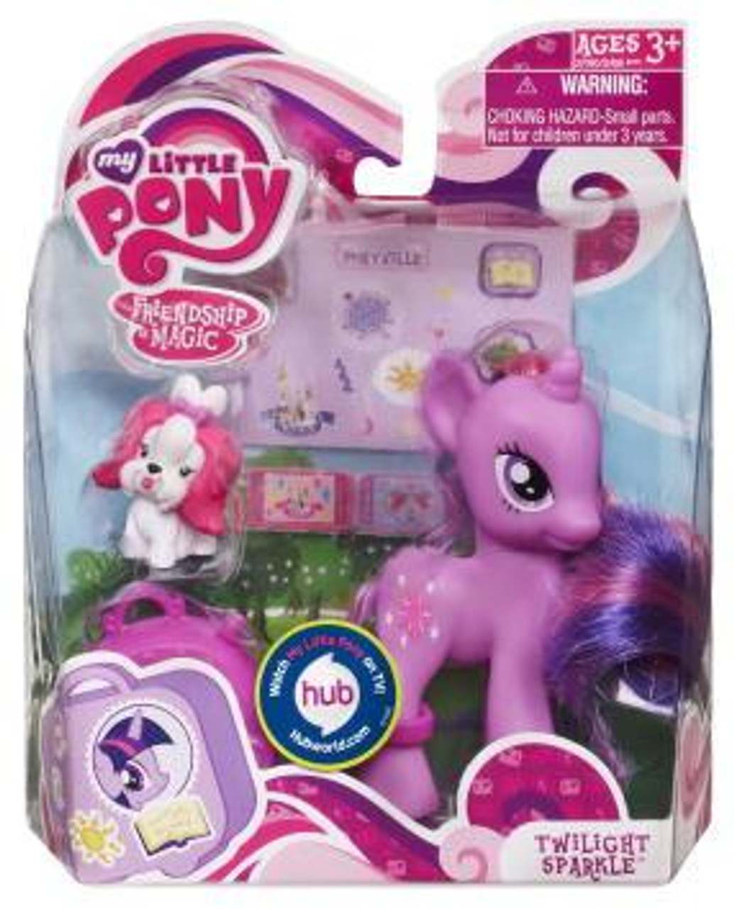 My Little Pony Friendship is Magic Basic Figures Twilight Sparkle Figure #37060 [With Suitcase]