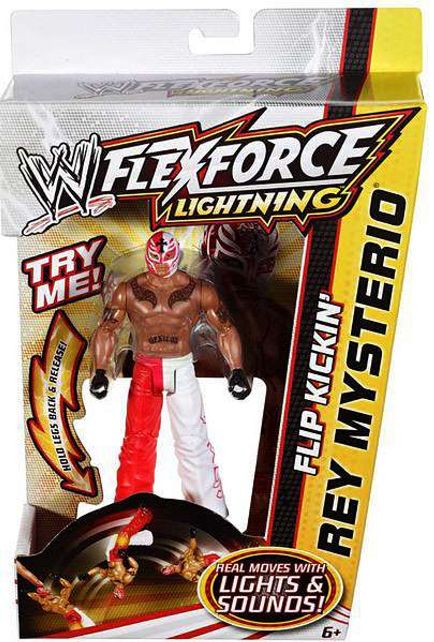 WWE Wrestling FlexForce Lightning Flip Kickin' Rey Mysterio Action Figure
