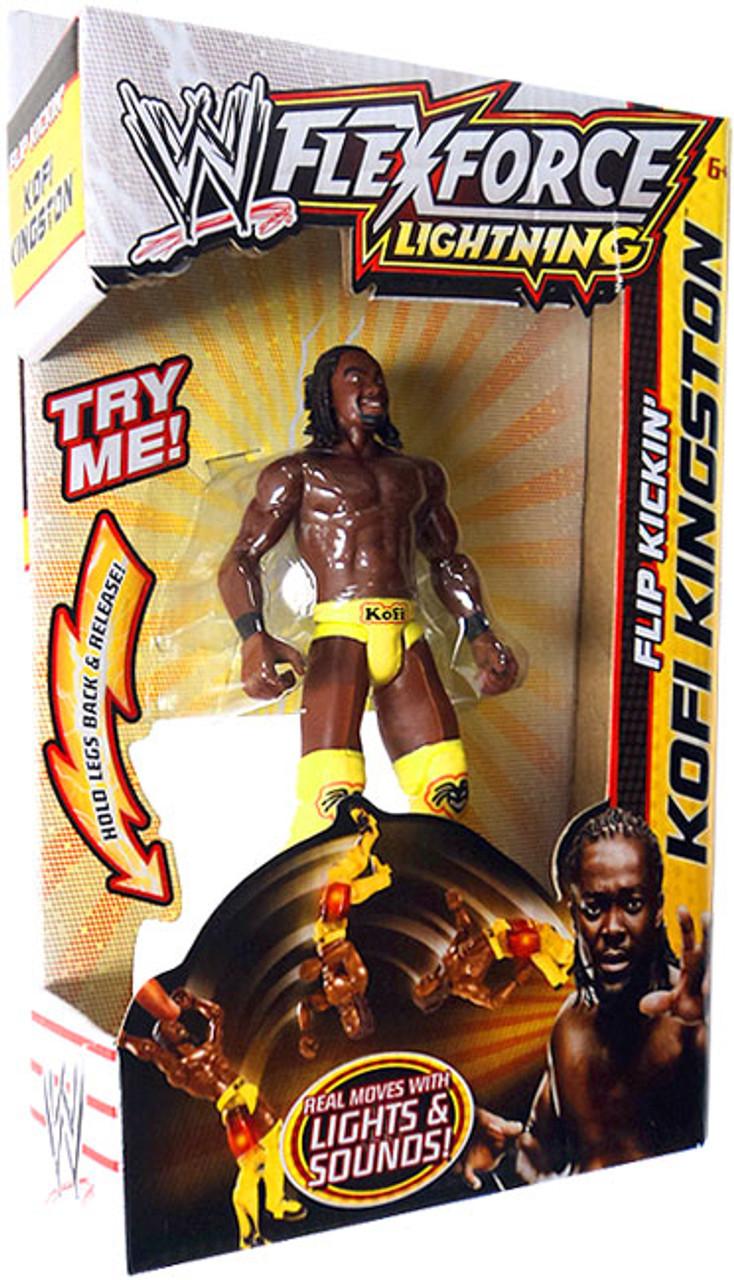 WWE Wrestling FlexForce Lightning Flip Kickin' Kofi Kingston Action Figure