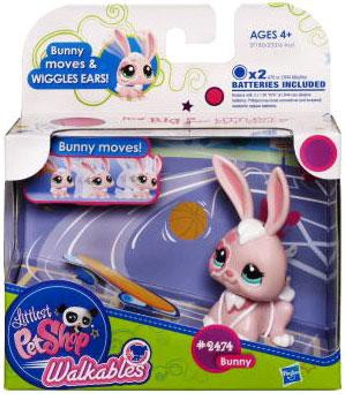 Littlest Pet Shop Walkables Bunny Figure #2474