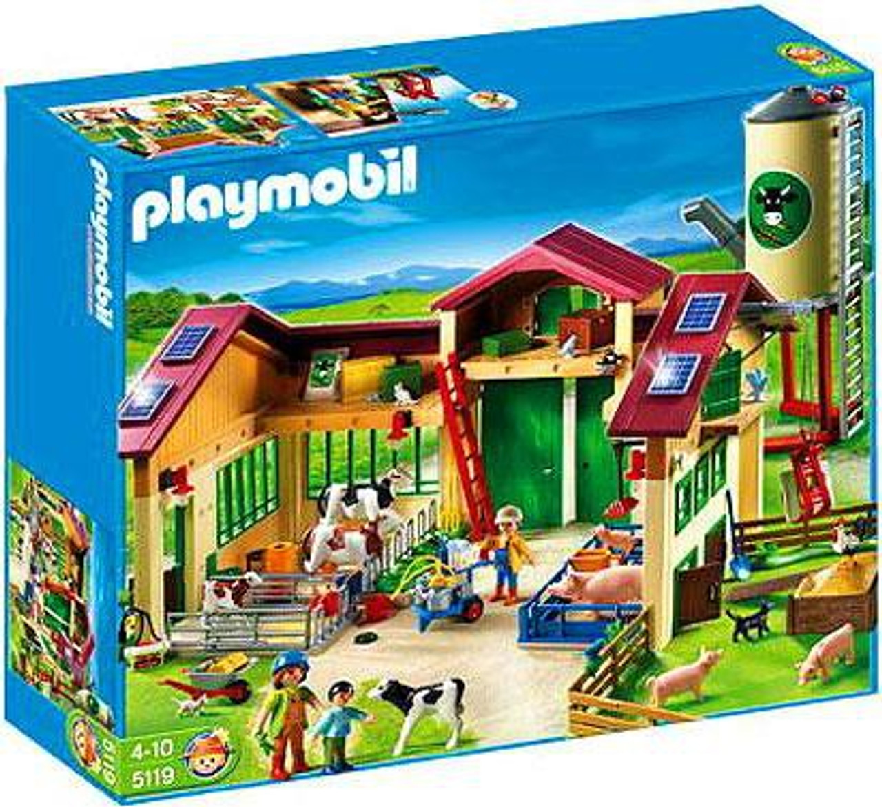 Playmobil Farm Barn with Silo Set #5119