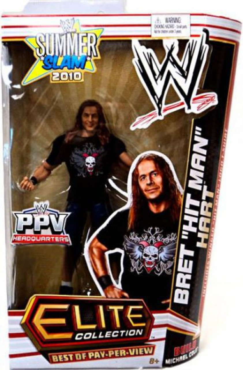"WWE Wrestling Elite Summer Slam 2010 Bret ""Hit Man"" Hart Exclusive Action Figure"