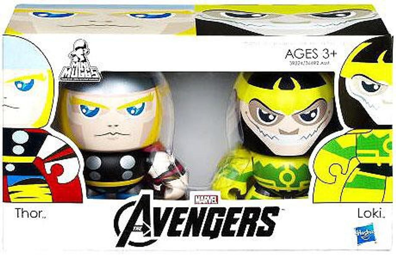Marvel Avengers Mini Muggs Thor & Loki Vinyl Figure 2-Pack