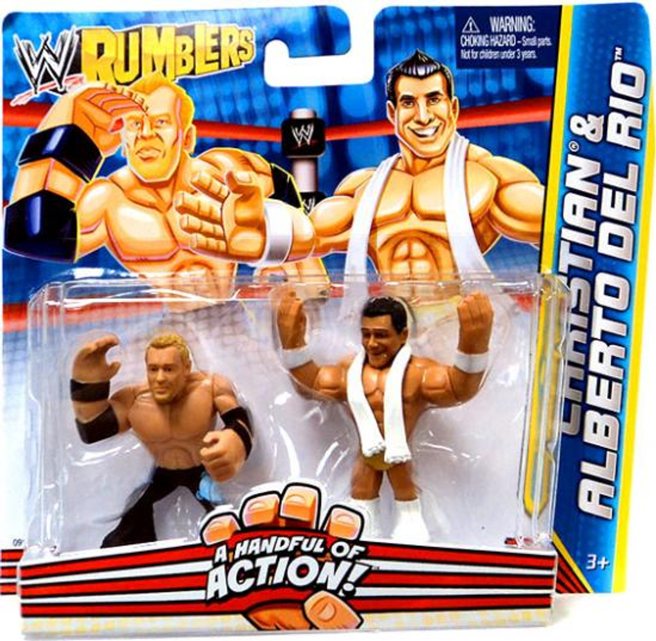 WWE Wrestling Rumblers Series 2 Christian & Alberto Del Rio Mini Figure 2-Pack