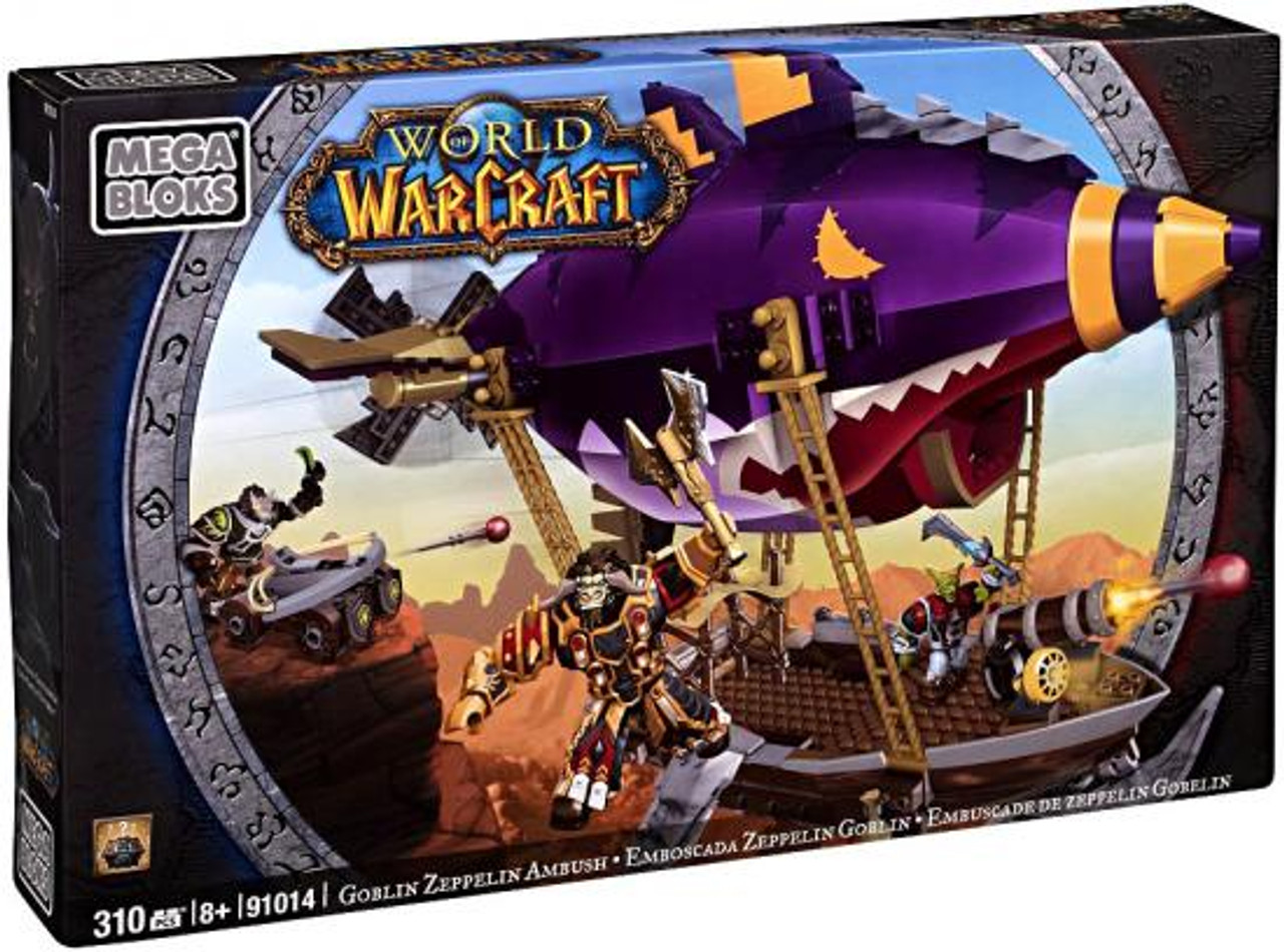 Mega Bloks World of Warcraft Goblin Zeppelin Ambush Set #91014