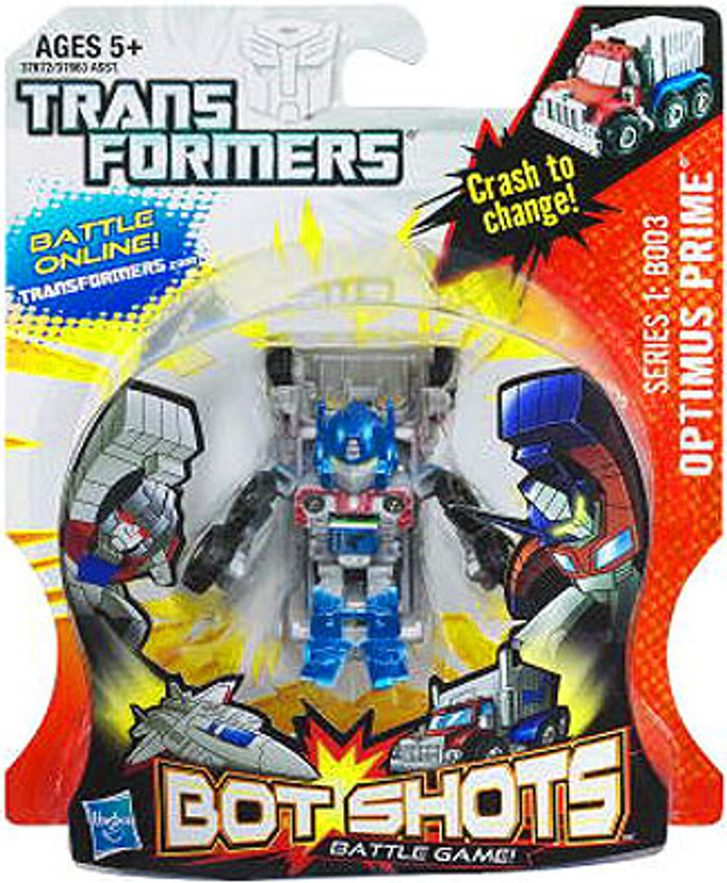 Transformers Bot Shots Battle Game Series 1 Optimus Prime Action Figure B003