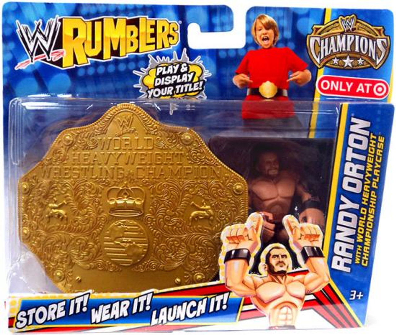 WWE Wrestling Rumblers Champions Randy Orton Exclusive Mini Figure