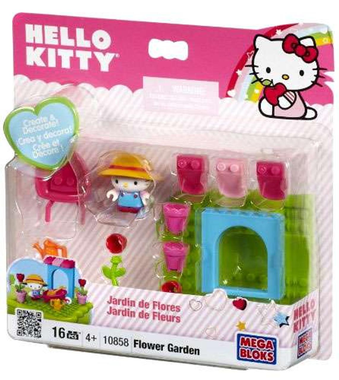 Mega Bloks Hello Kitty Create & Decorate Flower Garden Set #10858