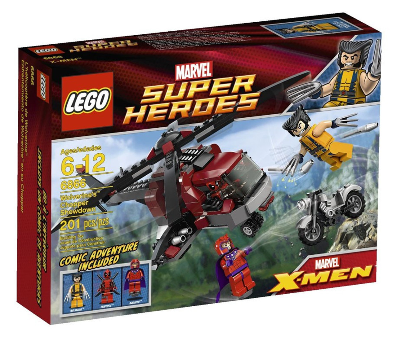 LEGO Marvel Super Heroes X-Men Wolverine's Chopper Showdown Set #6866