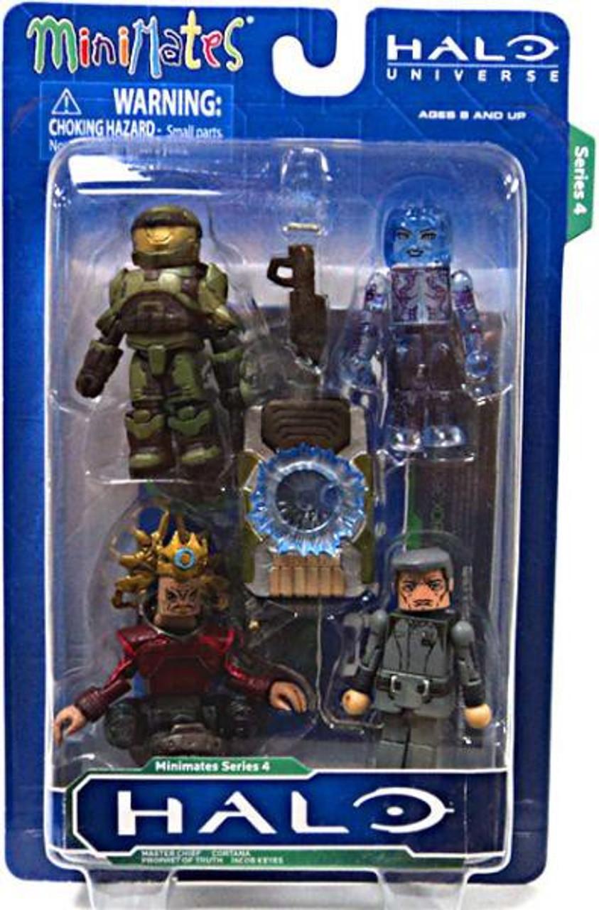 MiniMates Series 4 Halo Minifigure 4-Pack