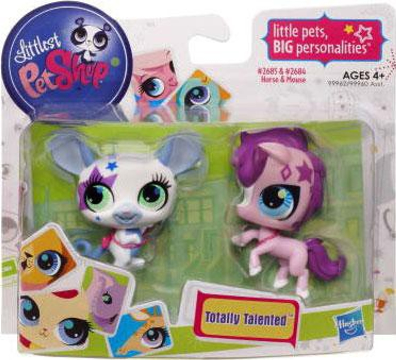 Littlest Pet Shop Totally Talented Pets Mouse & Horse Figure 2-Pack #2685, 2686