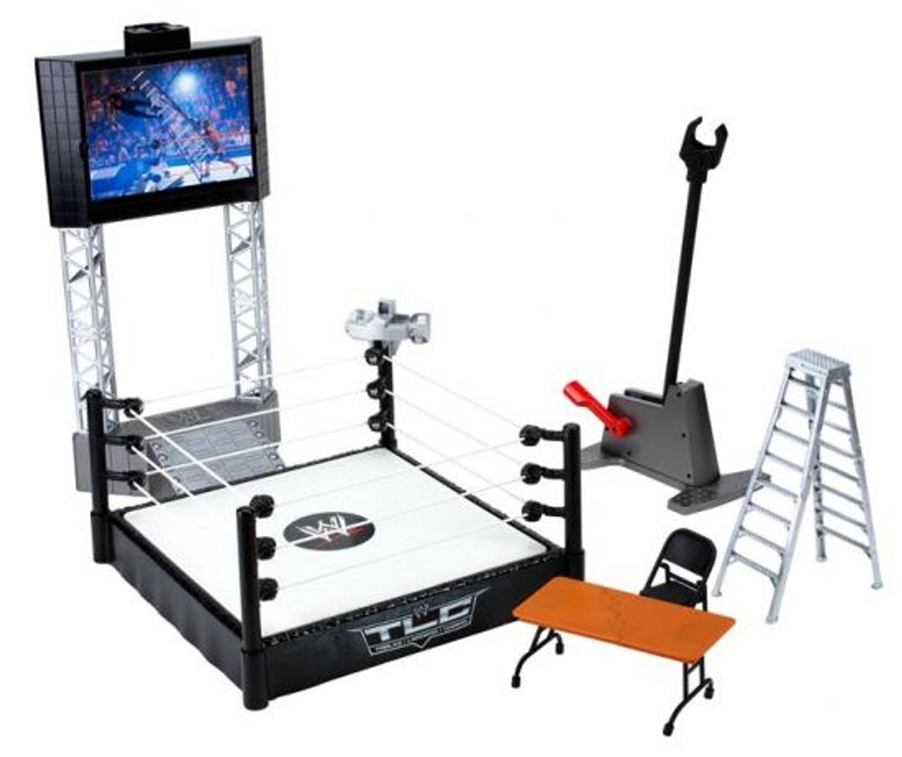 WWE Wrestling Flex'ems Series 2 High Flyin' Fury Ring Action Figure Playset